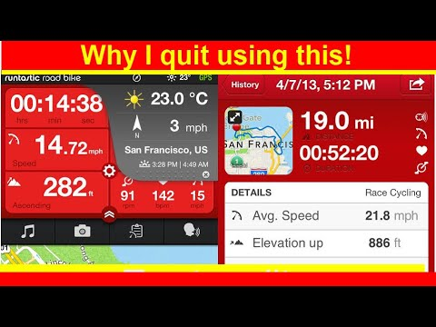 Runtastic Road Bike Pro App. Huge Problem