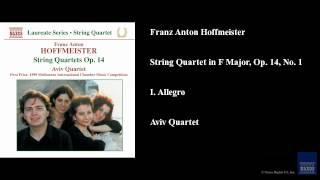 Franz Anton Hoffmeister, String Quartet in F Major, Op. 14, No. 1, I. Allegro