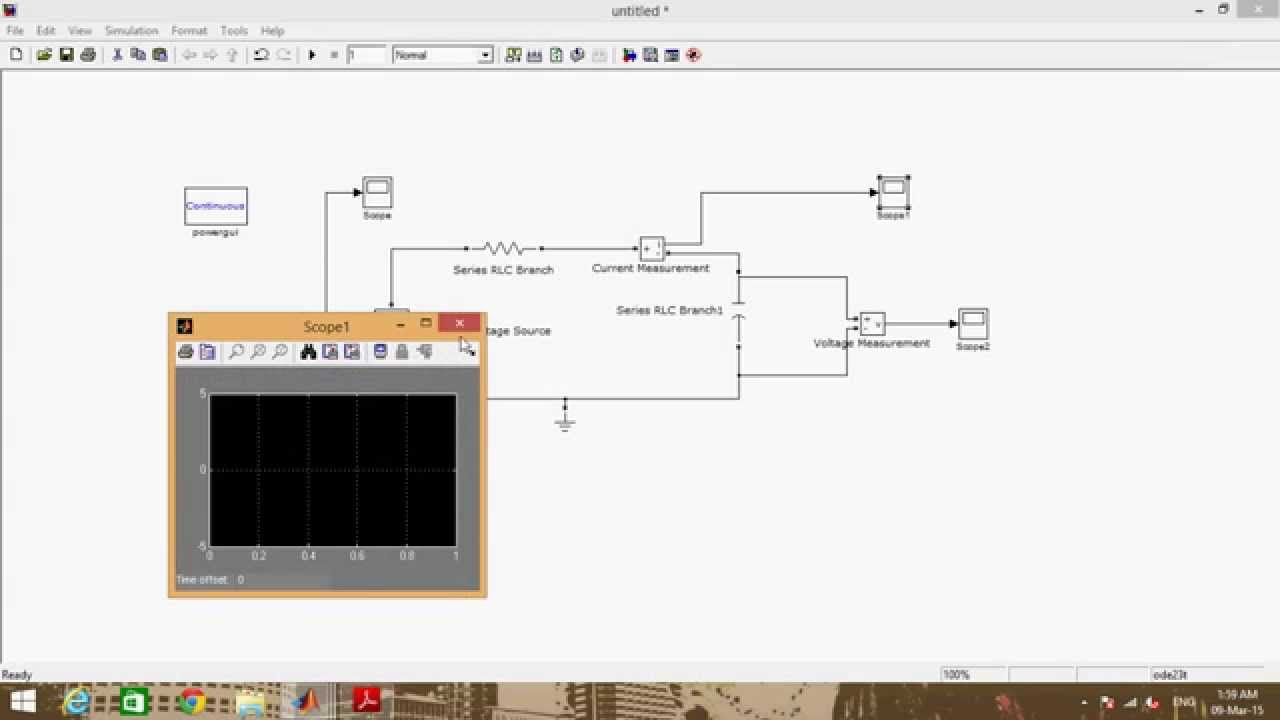 Rc Circuit Matlab Simulink Youtube Littledipper Analogcircuit Basiccircuit Diagram