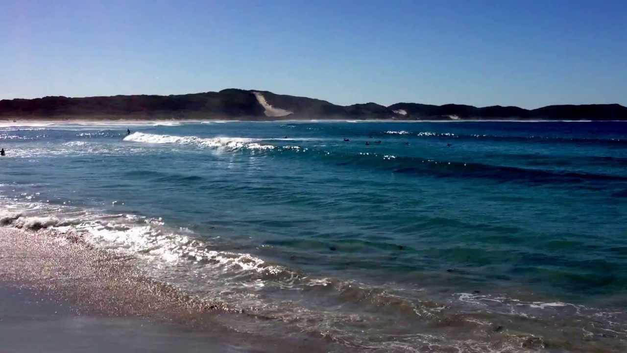 Surfing On Ocean Beach Denmark Western Australia