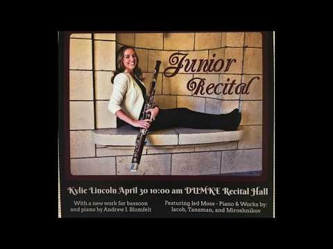 2017 Kylie Lincoln University of Utah Student Bassoon Recital