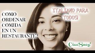 ORDENANDO COMIDA - Vocabulario de mesa y restaurantes!