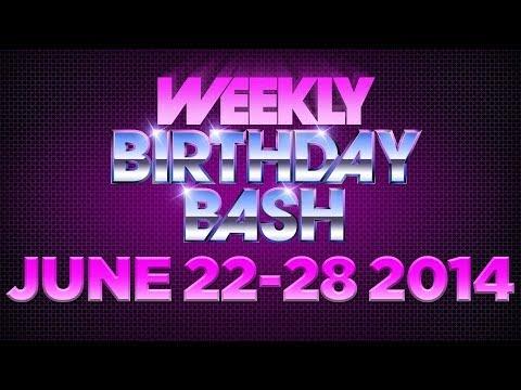 Celebrity Actor Birthdays - June 22-28 HD