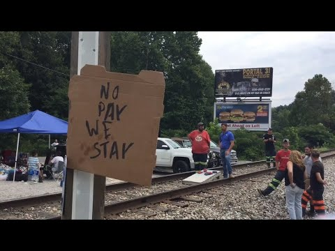 These Kentucky Miners Blocked A Train. They Said They're Here To Stay.