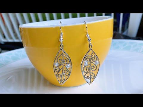 diy resin earrings/how to make simple and easy resin earrings at home/uv resin earrings/wire resin - 동영상