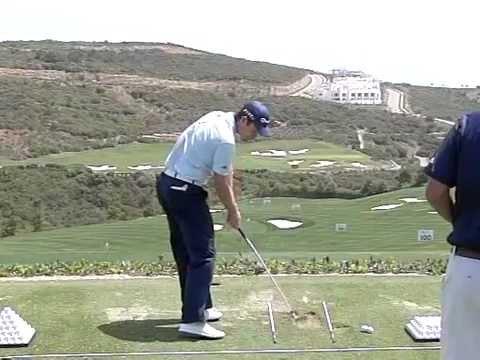Justin Rose Golf Swing Iron Slow Motion Volvo World