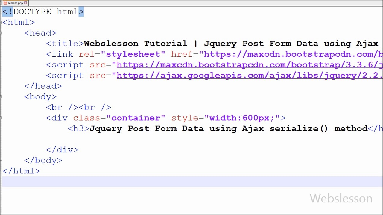 Jquery Insert Form Data using Ajax serialize() method with php ...