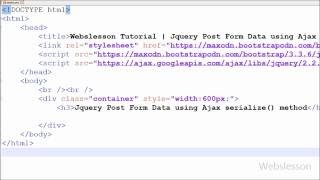 Jquery Insert Form Data using Ajax serialize() method with php mysql