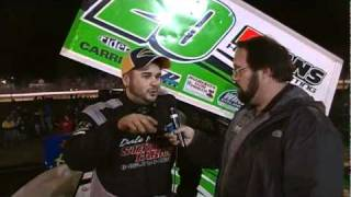 Port Royal Speedway 410 Sprint Car Victory Lane 4-02-11