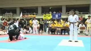 Girl wins karate fight by knock out!