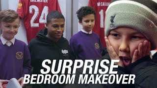 Brothers' surprise bedroom makeover with Rhian Brewster