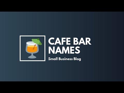 Catchy Cafe Bar Names