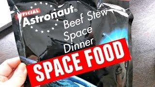 Tasting Astronaut Beef Stew - space food