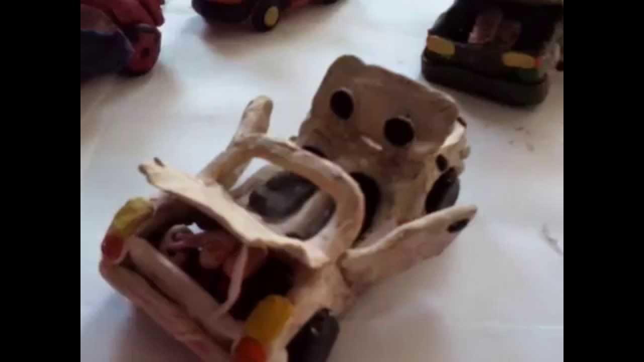 машины из пластилина