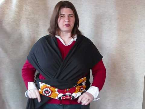 a15c57345fc Snuggy Baby Wrap Front Carry Instructions - YouTube