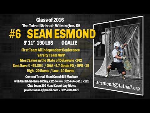 Sean Esmond - Goalie, The Tatnall School - Wilmington, DE - Sophomore highlights