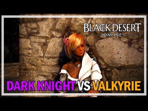 Black Desert Online – Dark Knight vs Valkyrie PvP Duel Practice