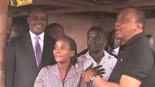 President Kenyatta Makes Impromptu Visit To Kibera Slums To Inspect Clean-up Exercise