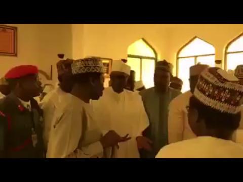 Gbam!   Watch Video Of President Buhari At Jumat Service Today