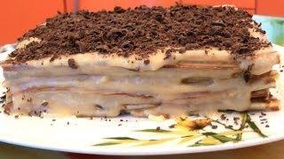 Вафельный торт ★ Торт из вафельных коржей
