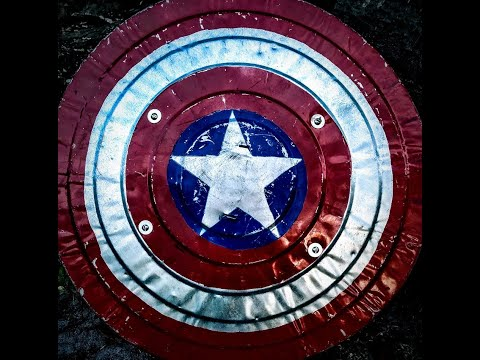 DIY: make your own captain america shield from a trash can lid!