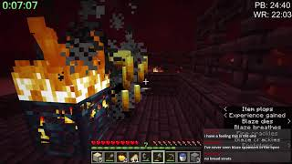 Minecraft 1.14 Speedrun in 22:16 | Random Seed Glitchless Any%