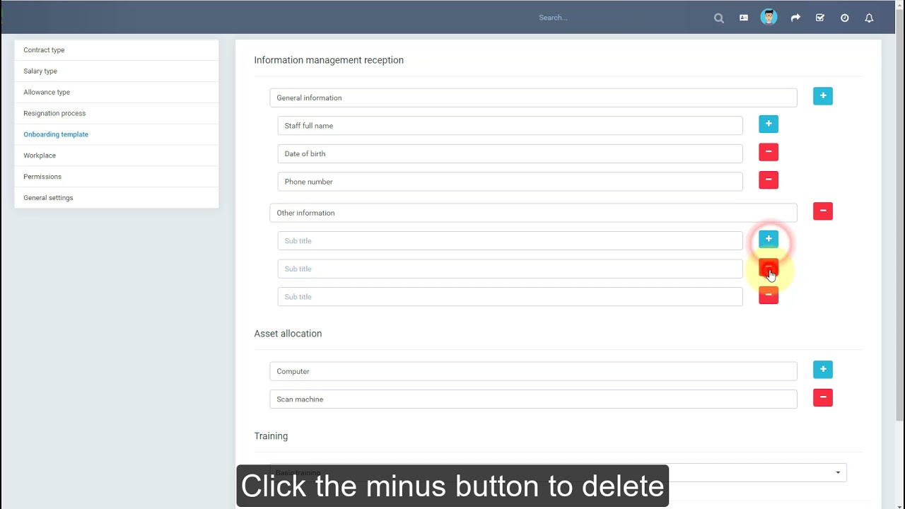 Perfex CRM Modules - HR Records - Settings - Onboarding Template Null