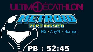 Metroid Zero Mission - Any&Normal% - PB en 52:45 (IGT - 38:46)