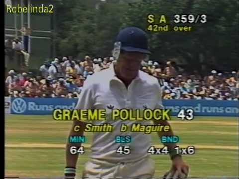 1987 Graeme Pollock 43 vs Australia 1st ODI Port Elizabeth
