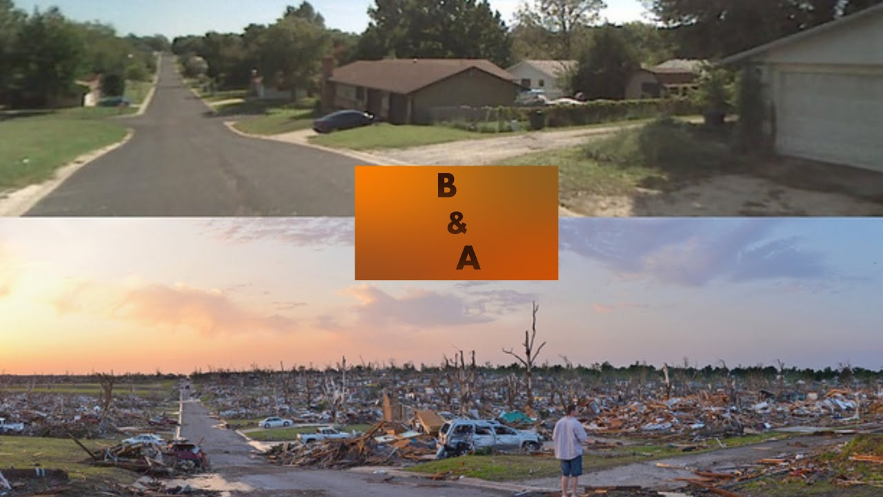 Tornado Damage Before and After - YouTube