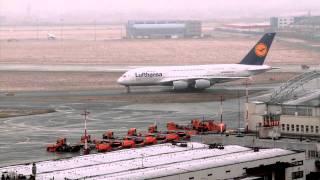 Lądowanie Airbus A380 na Lotnisku Chopina (Warszawa/Polska) EPWA (HD)