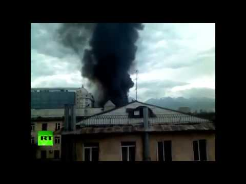 MASSIVE EXPLOSION causes HUGE DAMAGE in Kazakhstan as gas tanker EXPLODE