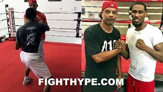 ROBERT EASTER PERFECTING KO COMBO FOR MIKEY GARCIA; LETS HANDS FLY WITH TRAINER CUNNINGHAM