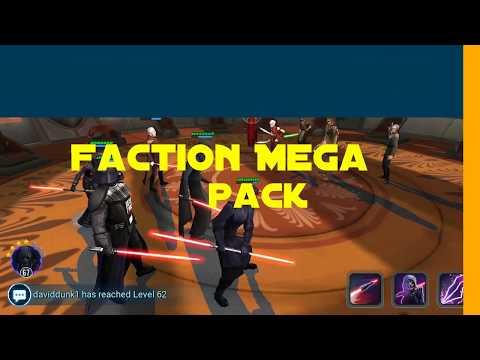 SWGOH: Close Look-Faction Mega Pack (Rebels) Pack Opening! & Territory Battles Prep