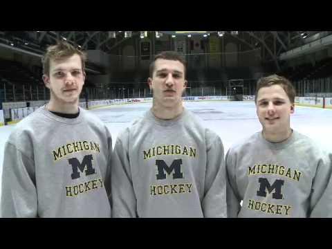 Happy Holidays From The Michigan Hockey Team