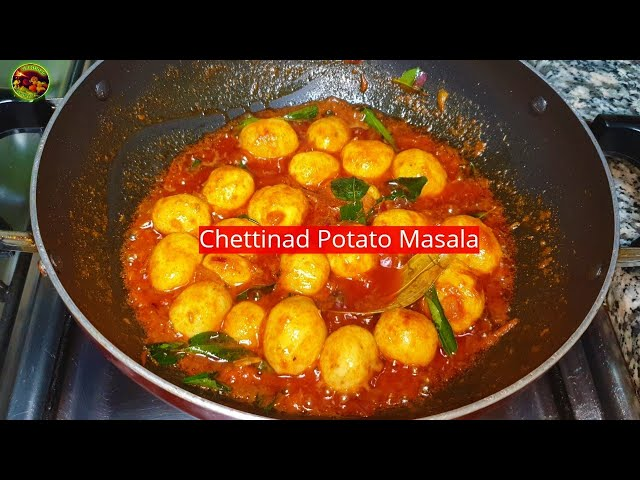 செட்டிநாடு உருளைக்கிழங்கு  மசாலா வறுவல்/  Chettinad Potato Varuval / Baby Potato  Spicy Masala