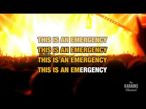 """This Is An Emergency in the Style of """"The Pigeon Detectives"""" with lyrics (no lead vocal)"""