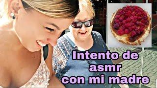 NO ASMR!! asmr CÓMICO-Intento de ASMR con mi MADRE-RECETA TARTA DE QUESO LA VIÑA