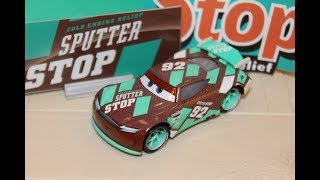 Mattel Disney Cars 3 Sheldon Shifter (Next Gen Sputter Stop #92) Piston Cup Racer 2018