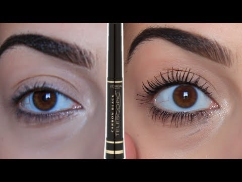 HONEST AF LOREAL TELESCOPIC MASCARA REVIEW! CARBON BLACK!
