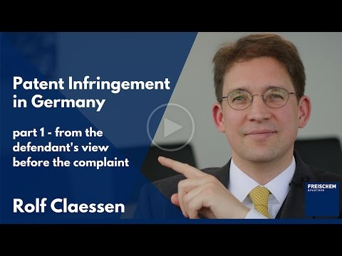 Patent Infringement in Germany - Part 2 - Defendant Before t