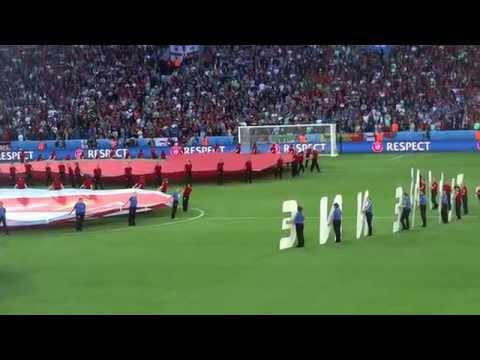 Euro 2016 Portugal vs Iceland national anthem of Iceland great atmosphere
