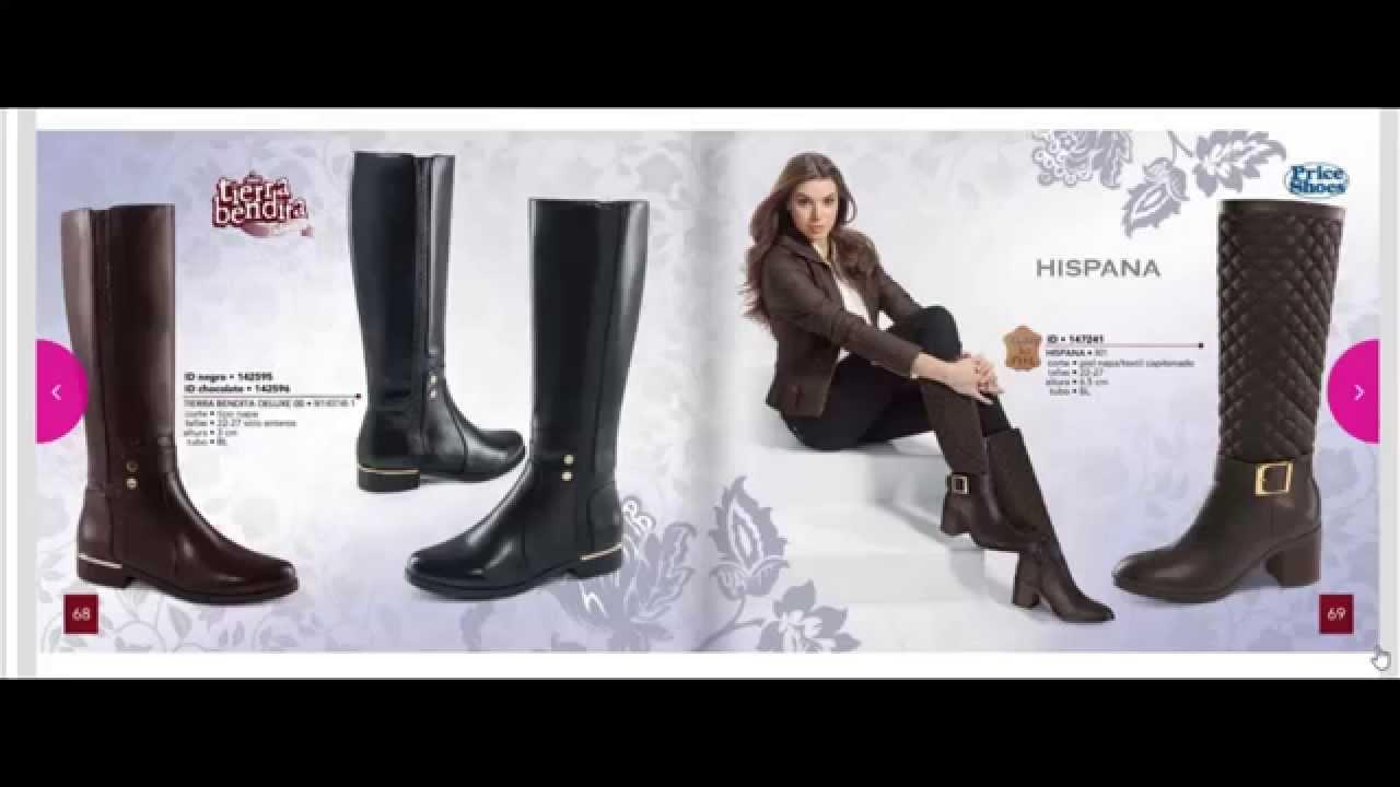 catalogo price shoes botas en linea