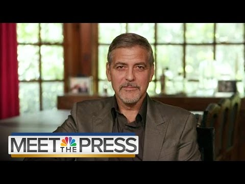 George Clooney On Why He's Not Like The Koch Brothers | Meet The Press | NBC News