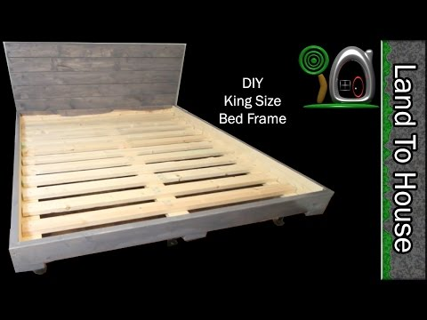 DIY King Size Bed Frame