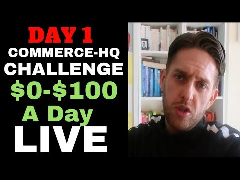 (Day 1) Commerce HQ Challenge - New Store From $0-$100 A Day With Commerce HQ - Live Case Study