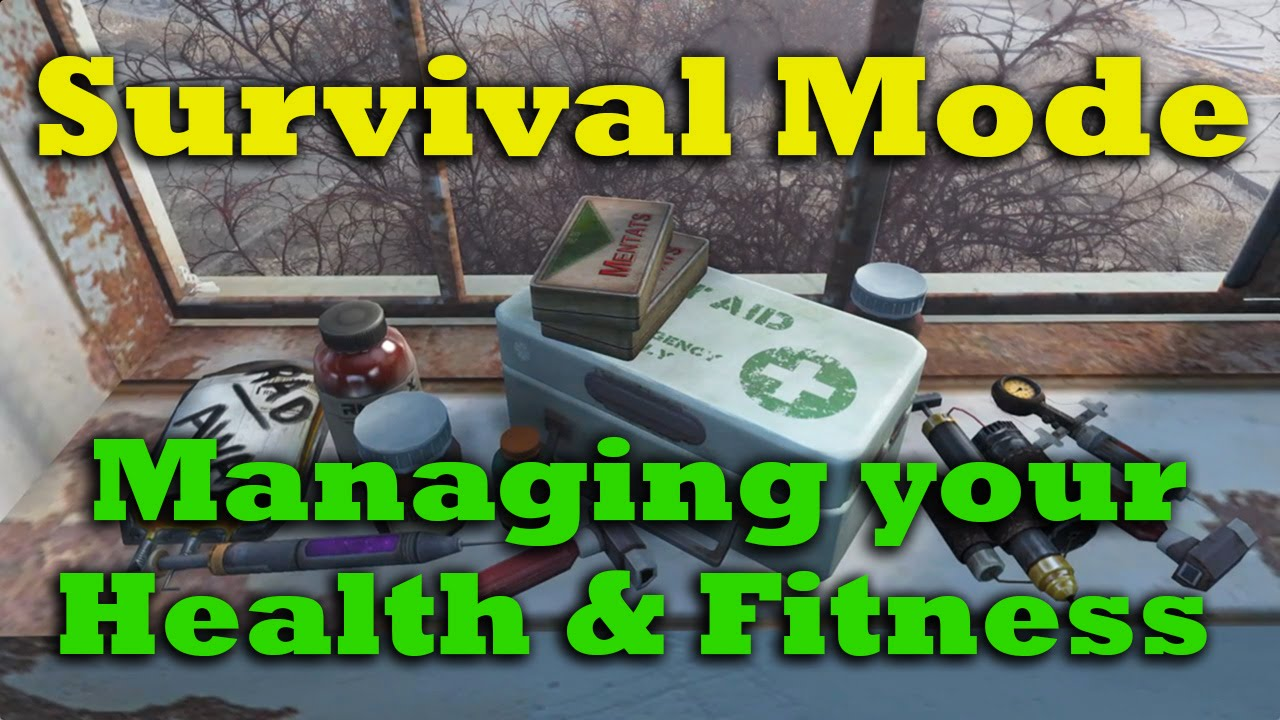 Surviving Survival Mode Ep. 4: Managing Your Health & Fitness - Fallout 4 Tips & Tricks