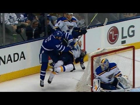 Gotta See It: Matt Martin drops the gloves after crushing hit on Kyle Brodziak
