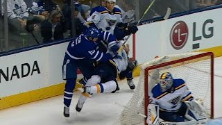 Gotta See It: Matt Martin drops the gloves after crushing hit on Kyle Brodziak