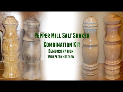 Pepper Mill Salt Shaker Combination Kit Turning